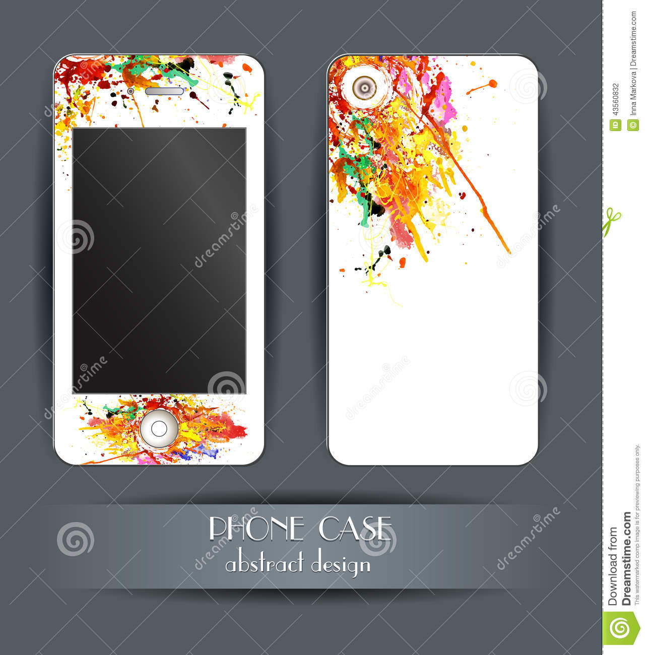 Style phone case cover for your mobile phone for Spray paint phone case