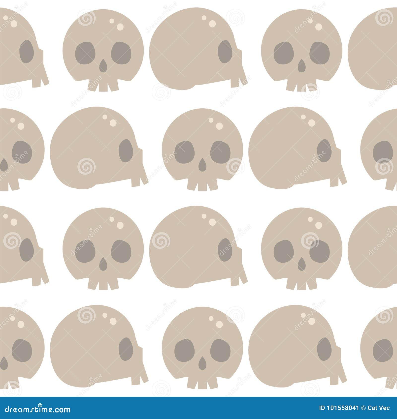 Style Skulls Faces Seamless Pattern Background Vector Illustration ...