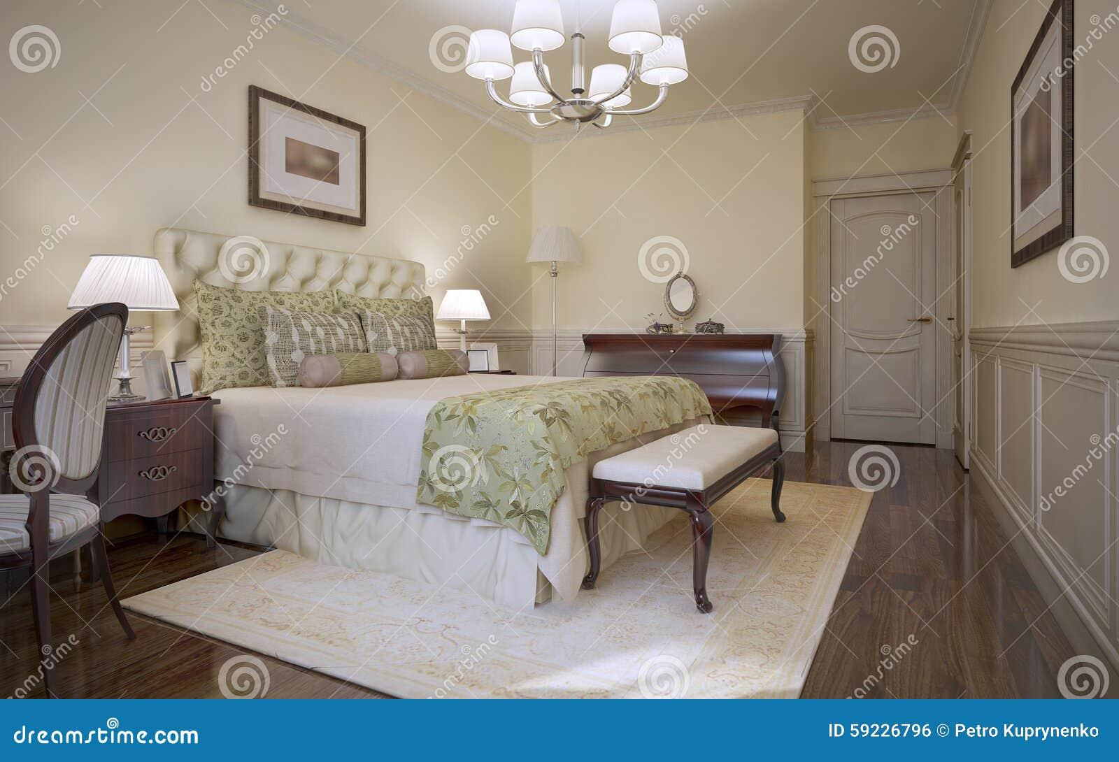 Style traditionnel de classique de chambre coucher for Style de chambre a coucher