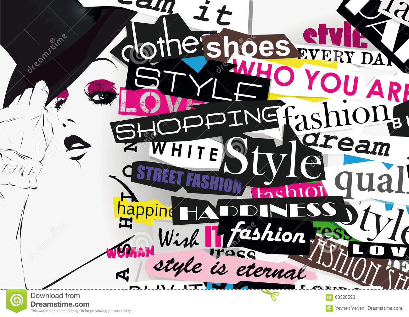 Style And Fashion Word Cloud Concept Vector Illustration 64075930