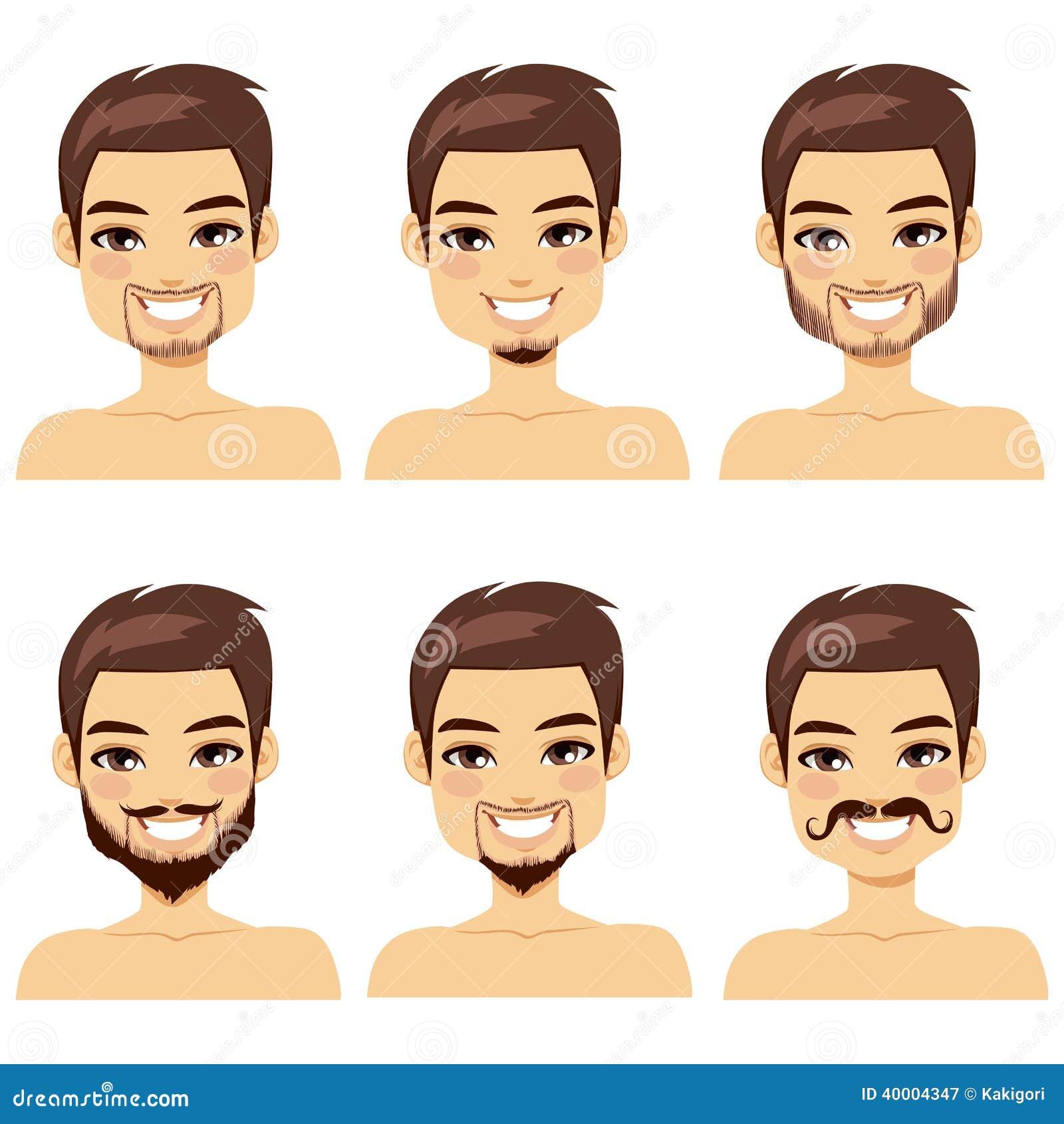 styles d 39 une chevelure de barbe d 39 homme de brown illustration de vecteur illustration du t te. Black Bedroom Furniture Sets. Home Design Ideas