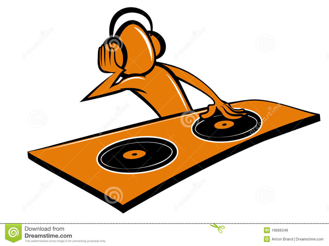Stylised Cartoon DJ Design Royalty Free Stock Photos - Image: 19666348