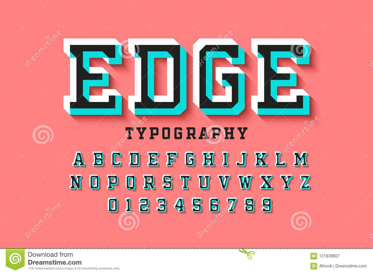 Stylised colorful 3d font stock vector. Illustration of graphic ...