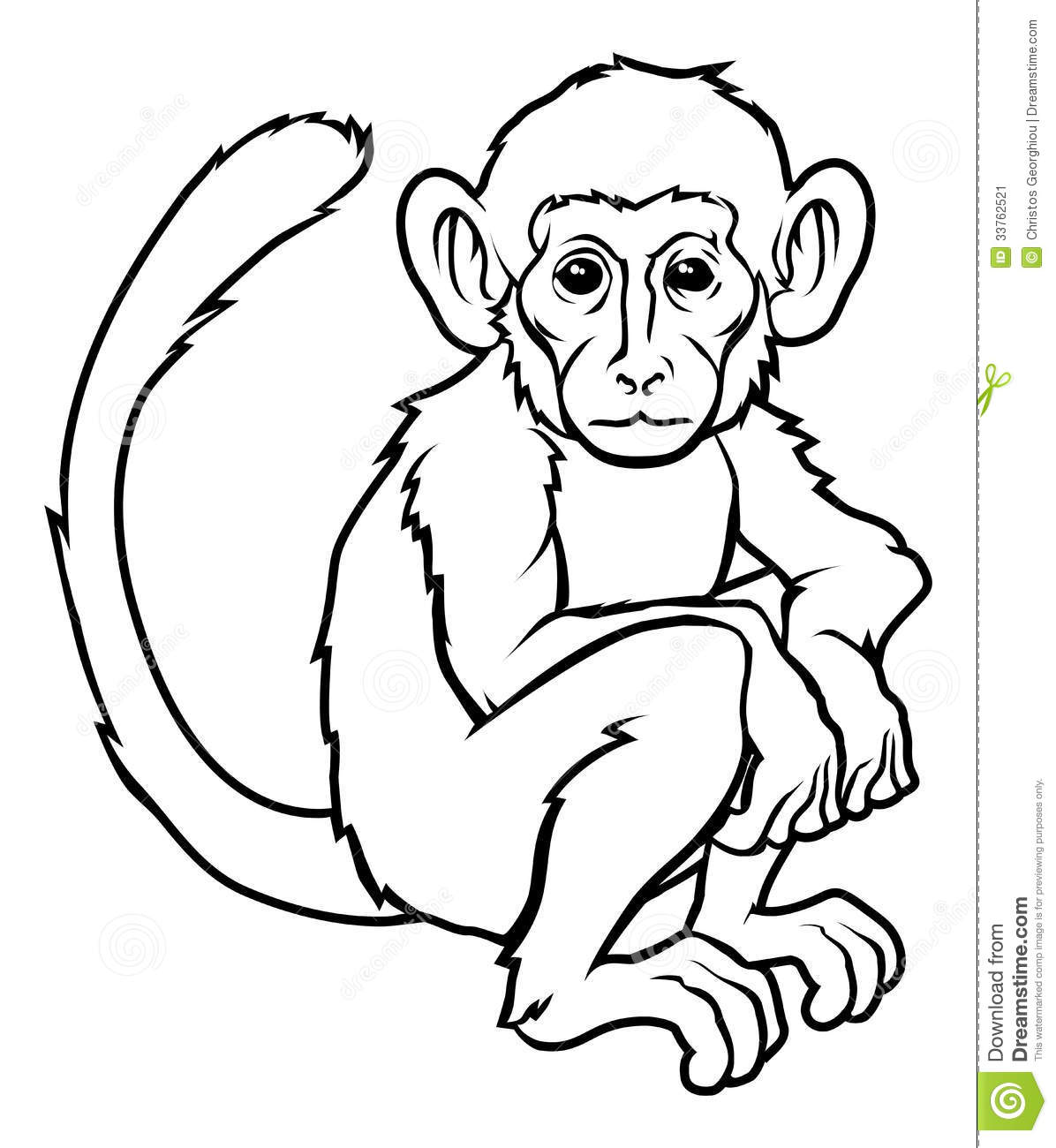 3e746cc0e Stylised Monkey Illustration Stock Vector - Illustration of monky ...