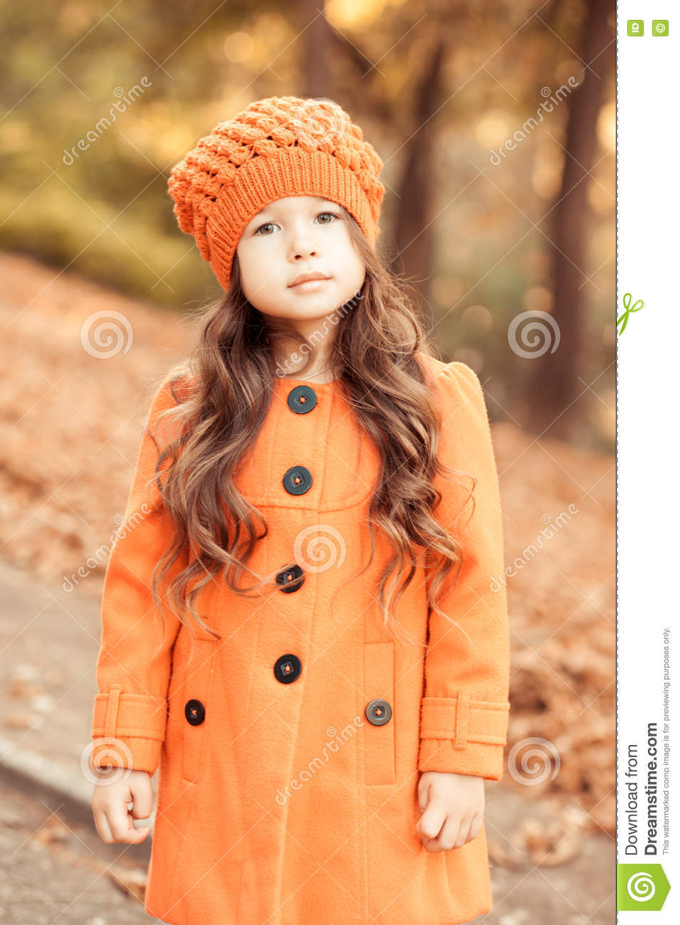 55c633f34 Stylish Baby Girl Wearing Winter Clothes Stock Image - Image of ...