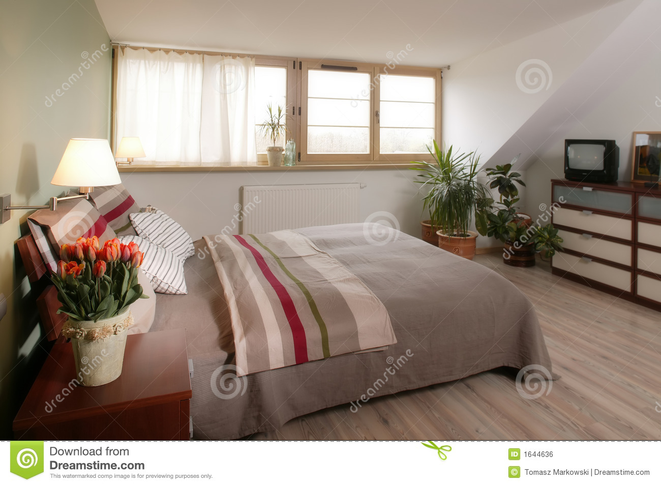 Stylish bedroom royalty free stock image image 1644636 - Image bed room ...
