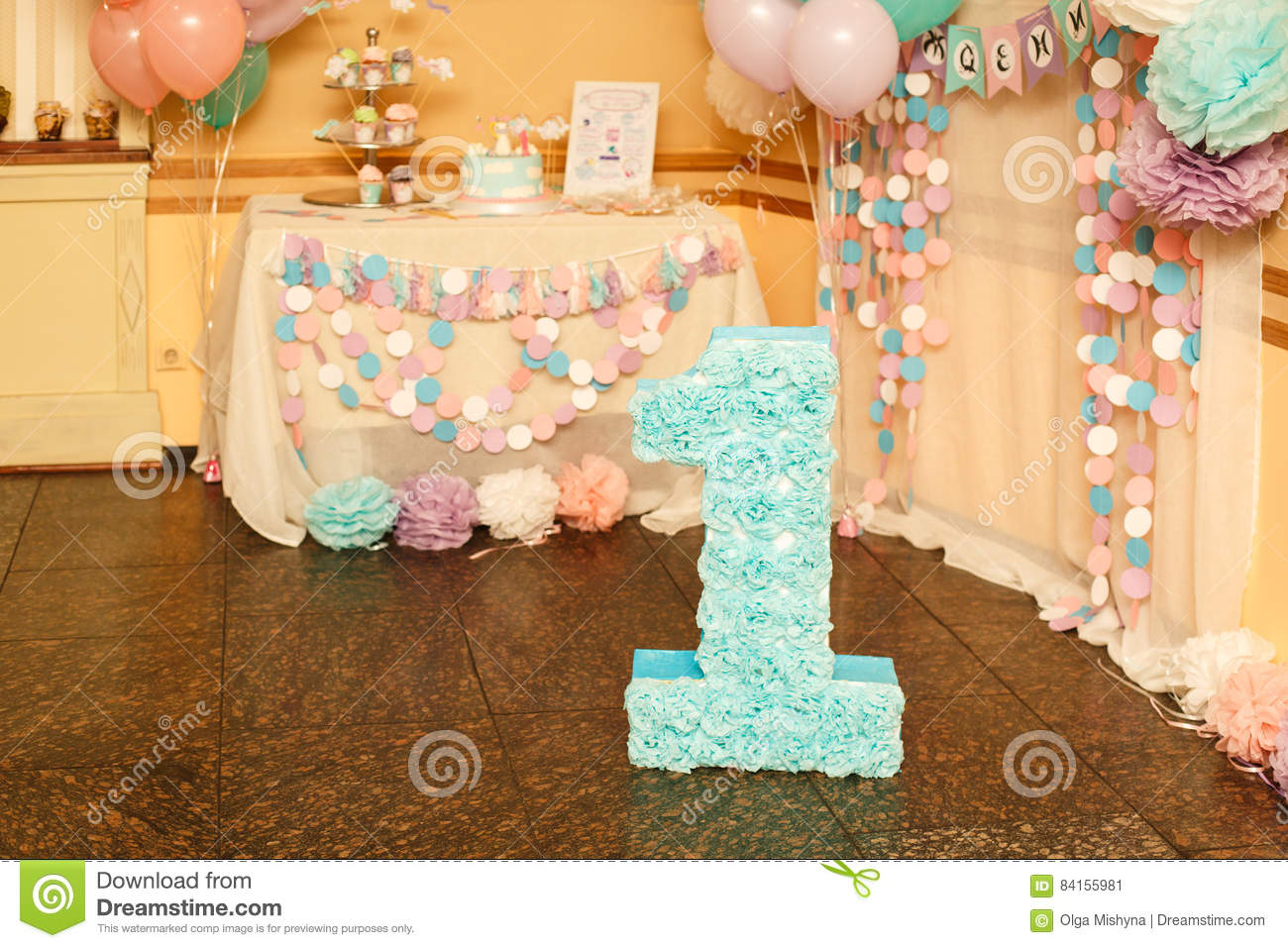 Stylish birthday decorations for little girl on her first - Adornos de cumpleanos para nina ...