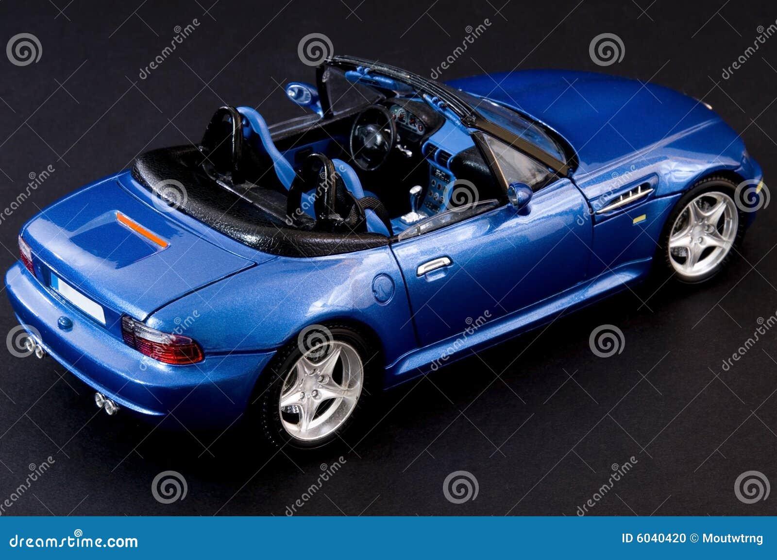 Stylish blue covertible roadster