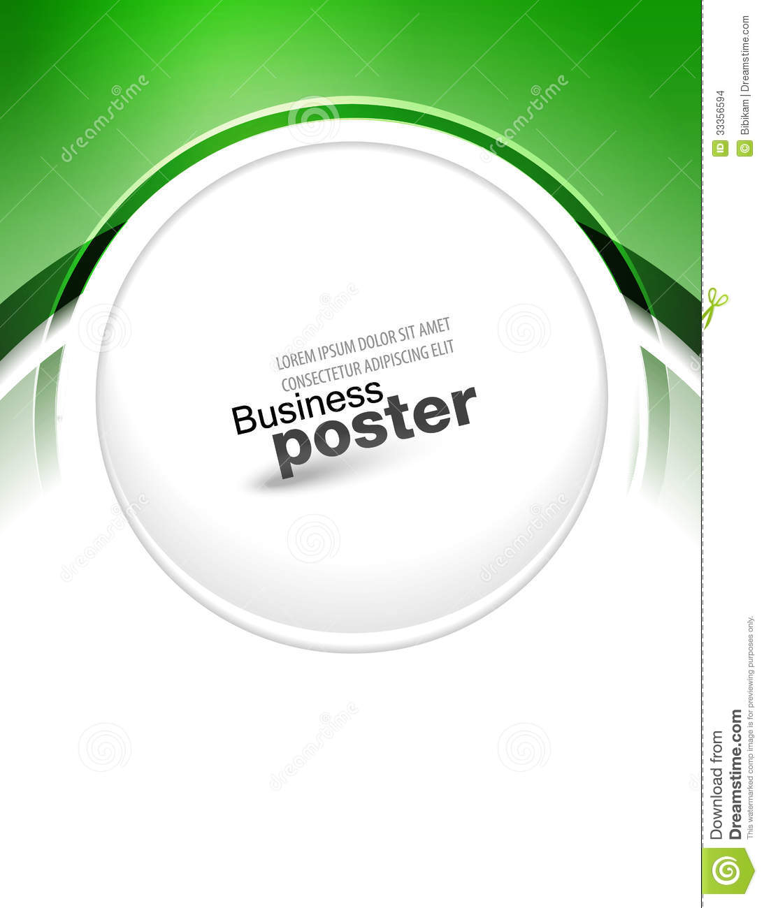 stylish blue presentation of business poster stock vector