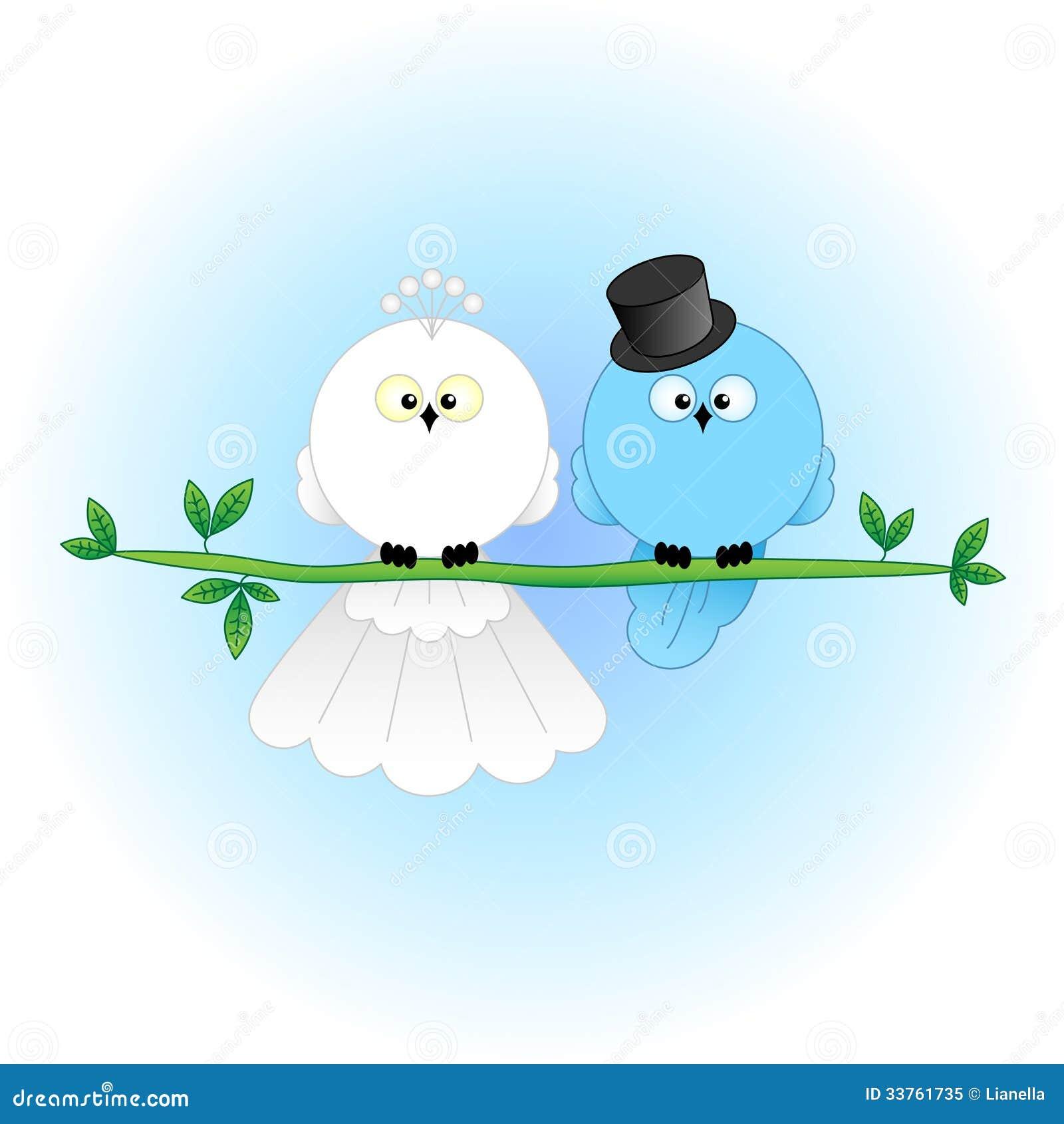 Stylish Bride And Groom Birds Royalty Free Stock Photo - Image: 33761735