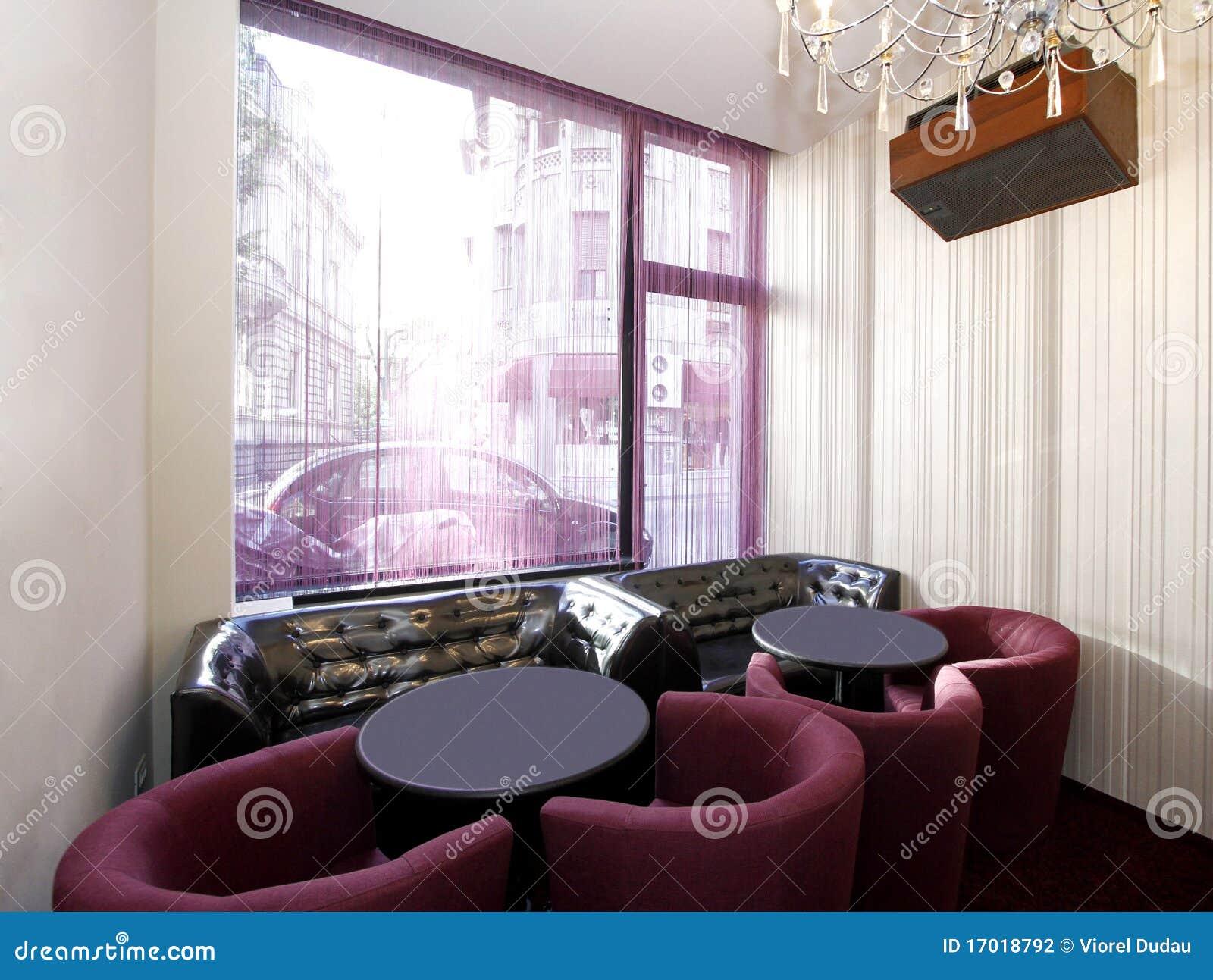 stylish cafe interior stock photography - image: 17018792