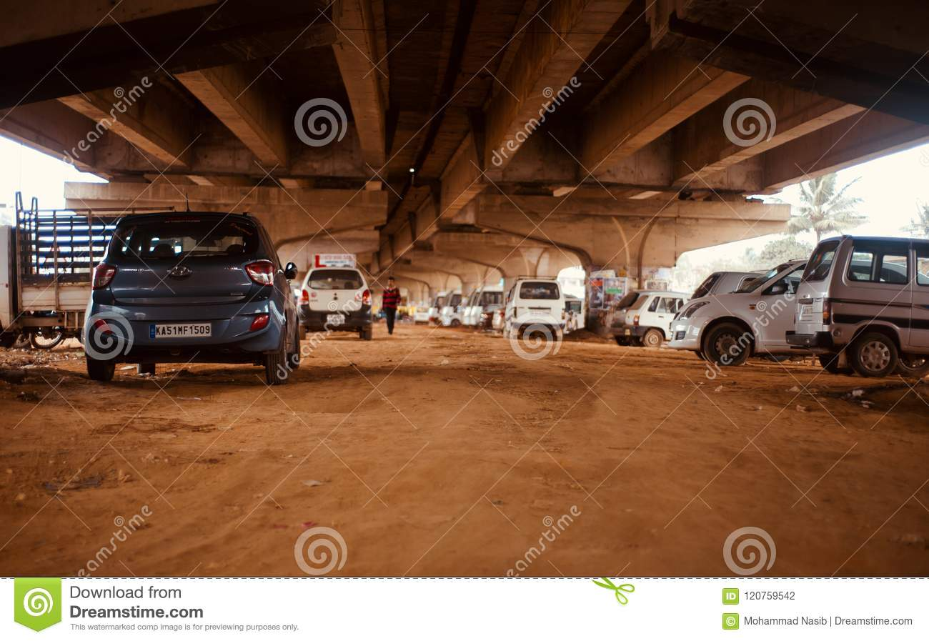 Download Cars Parked Under A Flyover Bridge In Bangalore India Unique Photo Editorial Photography - Image of structure, cars: 120759542