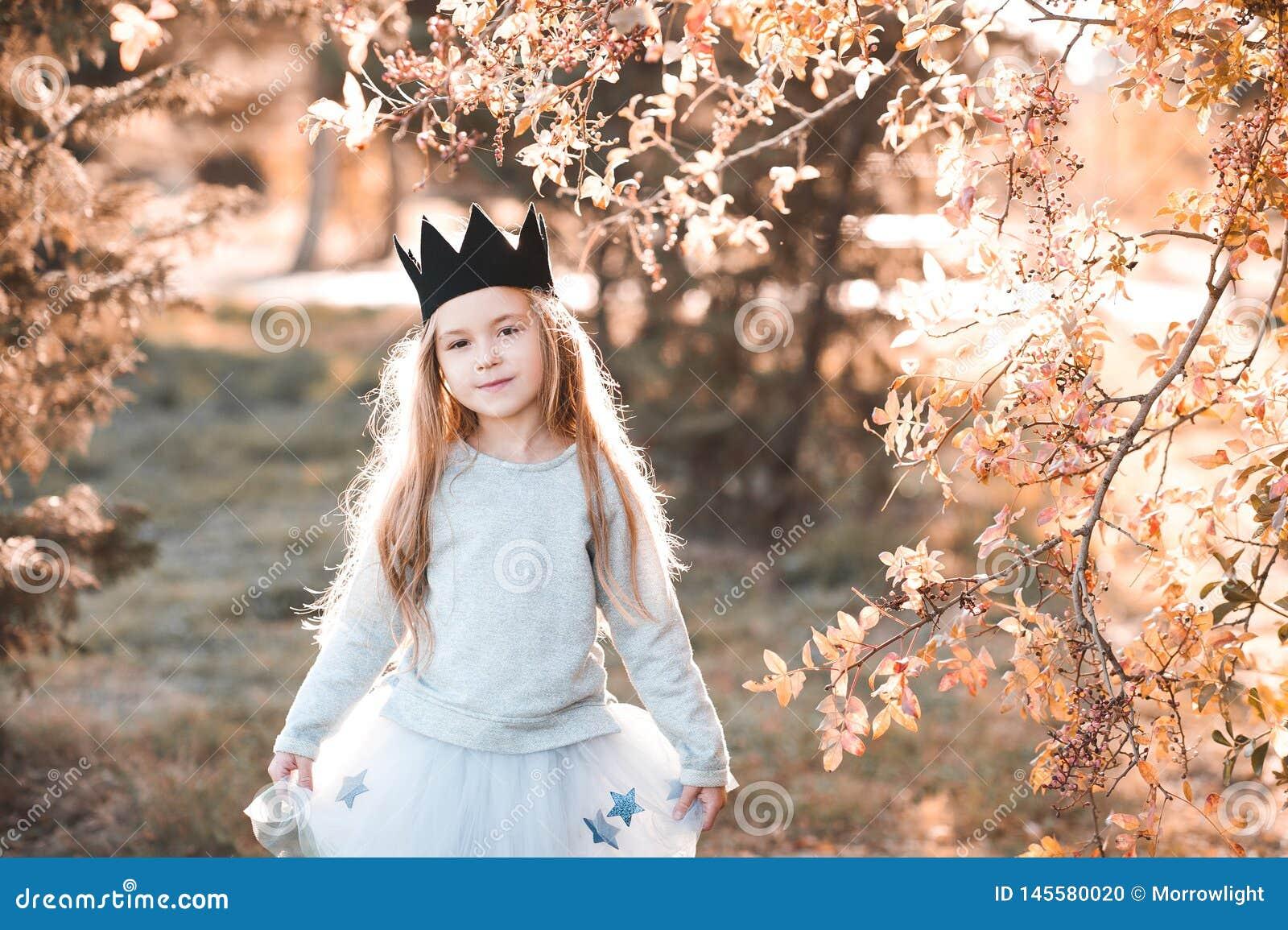 Stylish child outdoors