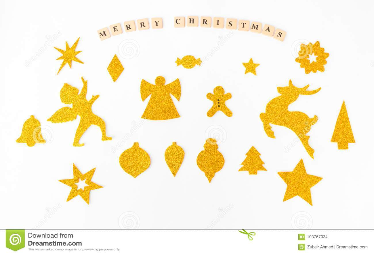 Christmas Cutouts.Stylish Christmas Shapes Mock Up Handcrafted Cutouts For