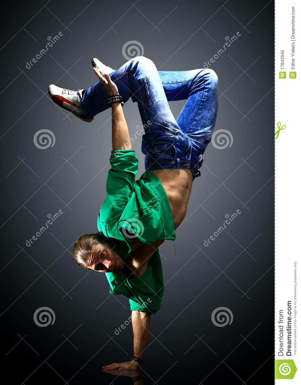 Stylish And Cool Breakdance Stock Image