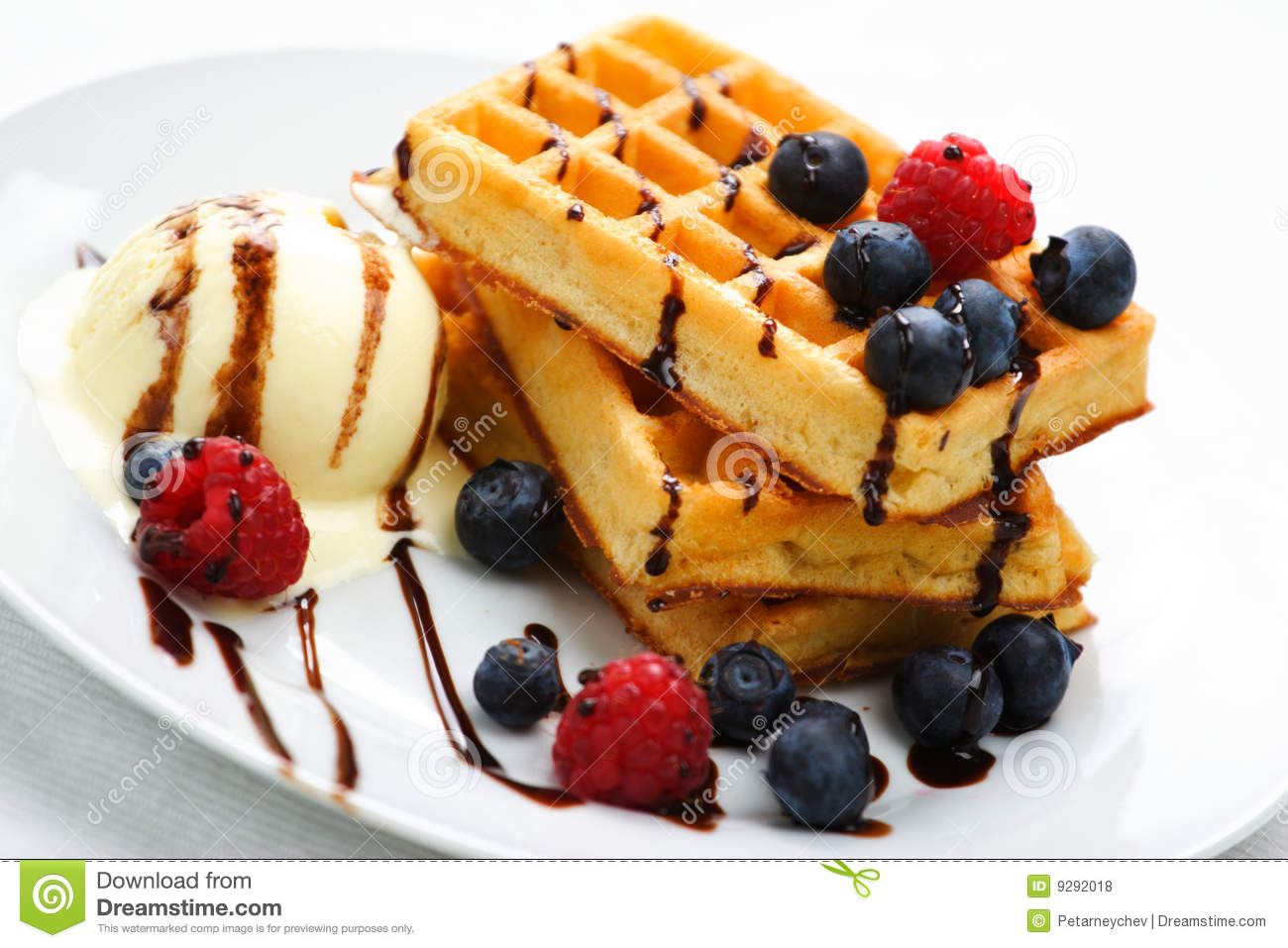 Stylish Dessert With Waffles Royalty Free Stock Photos ...