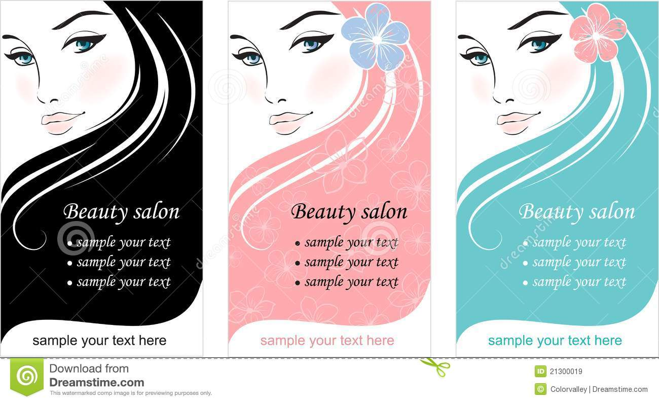 Comfortable Salon Business Cards Templates Free Photos Business - Beauty salon business cards templates free