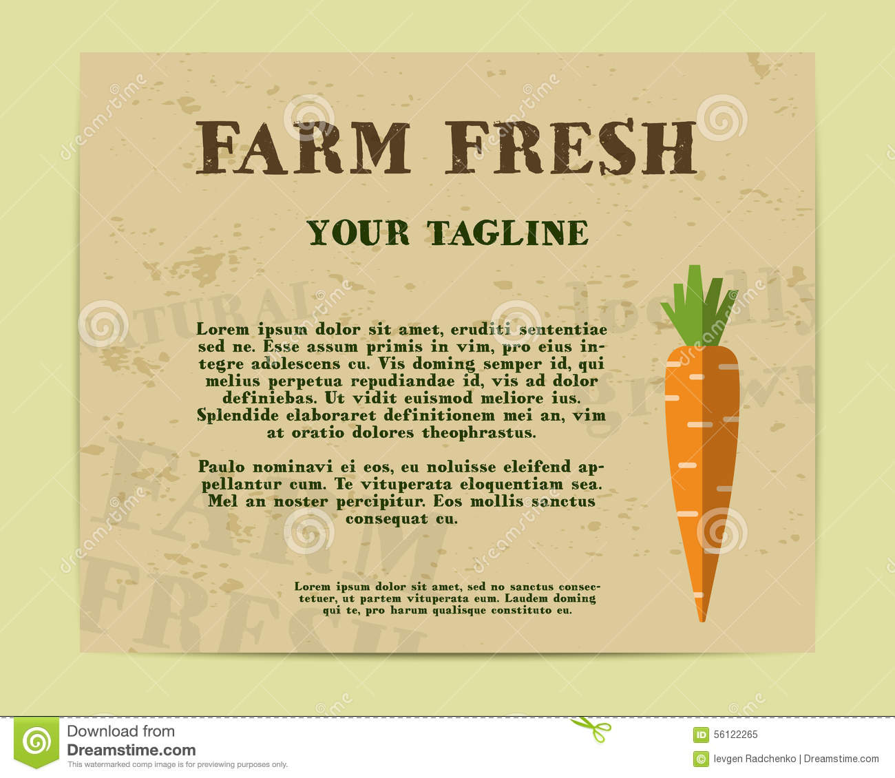 Stylish Farm Fresh Poster, Template Or Brochure Stock Vector - Image ...