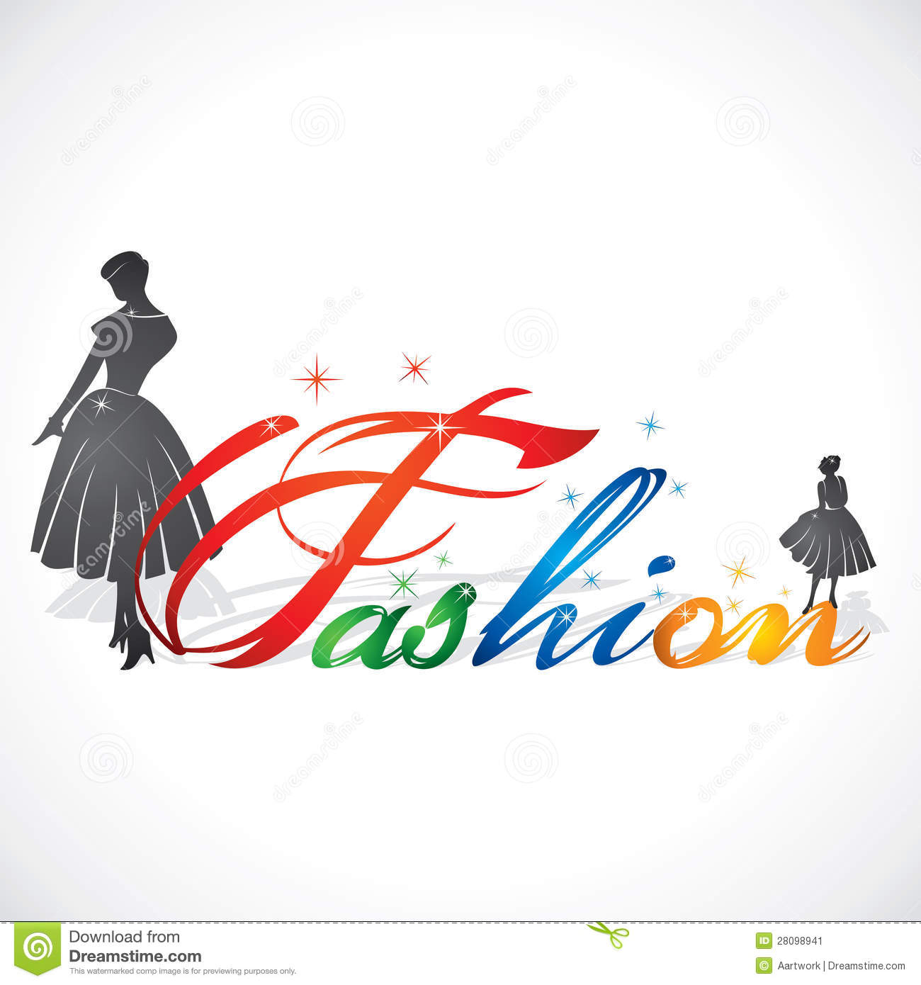 stylish fashion text stock image image 28098941