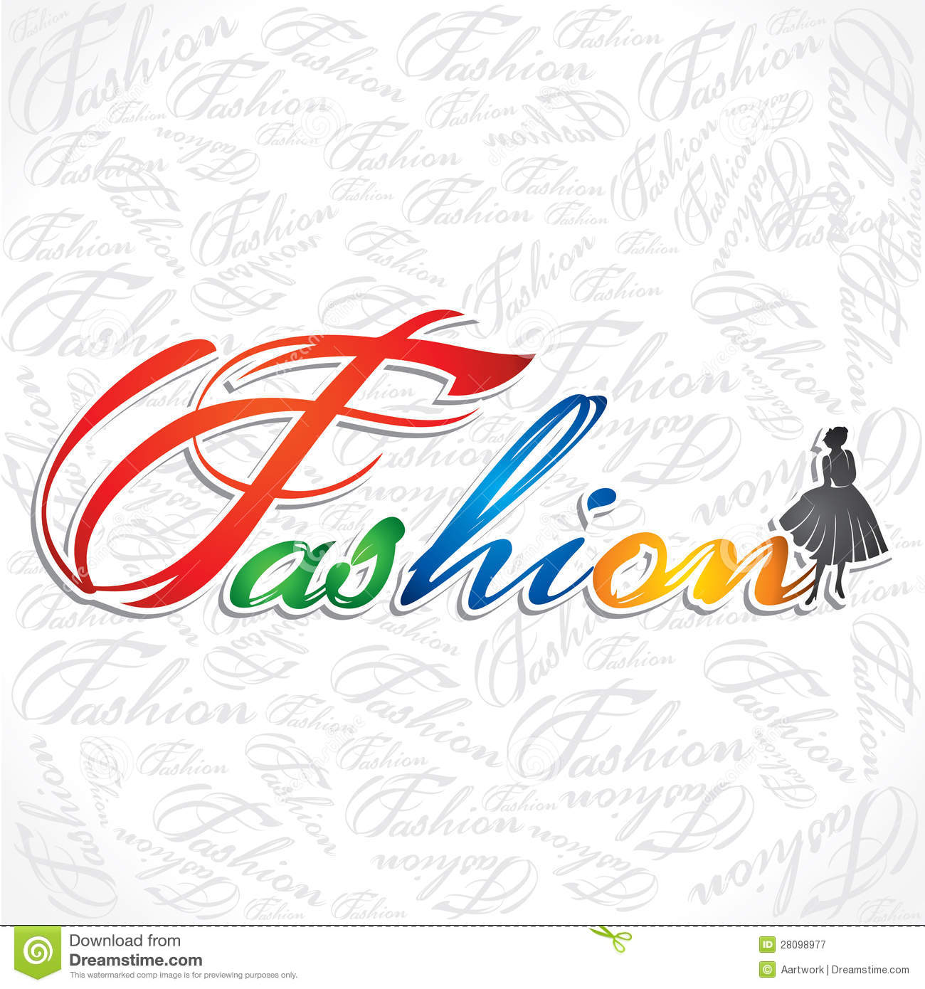 stylish fashion text stock vector illustration of blue