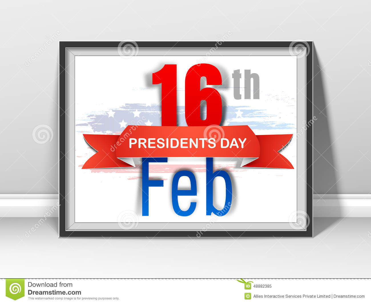 Poster or banner design for american presidents day for Th background color