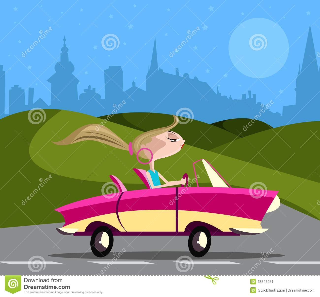 clipart car driving on road - photo #30