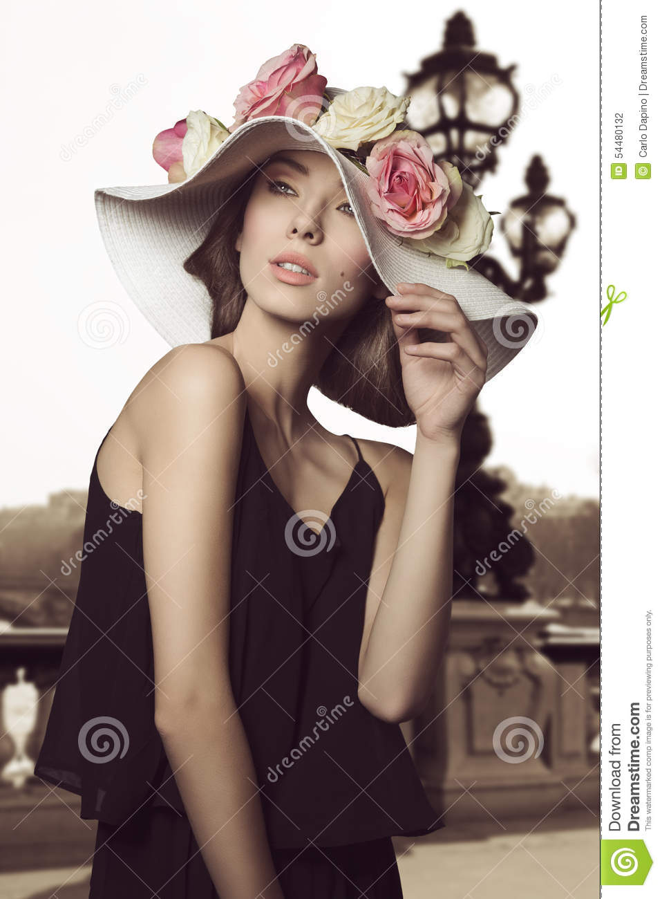 Girl stylish images with hat advise dress in spring in 2019