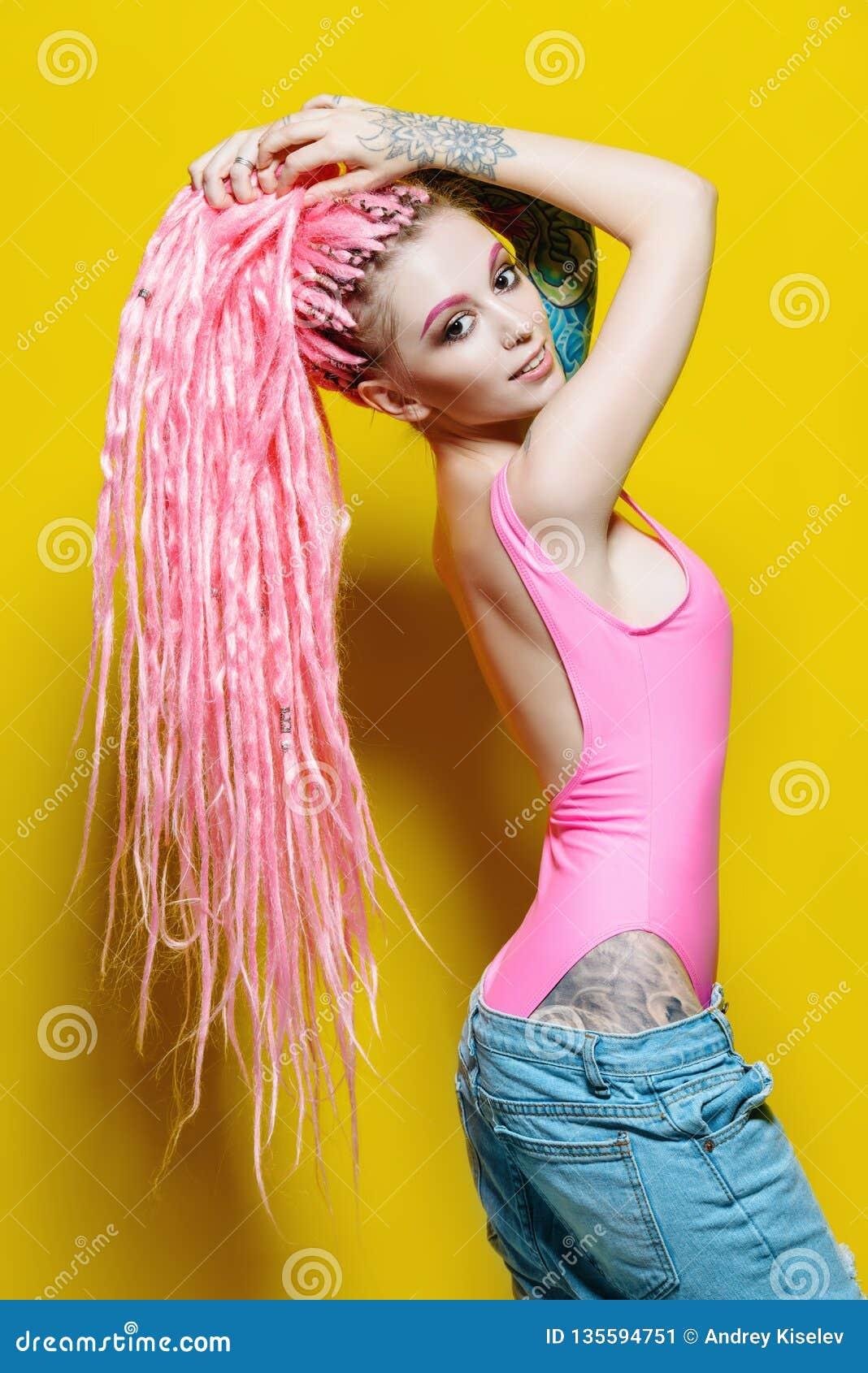 Stylish hipster girl