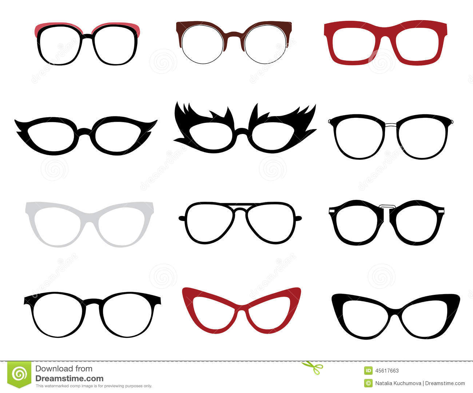 Stylish Glasses Stock Vector - Image: 45617663
