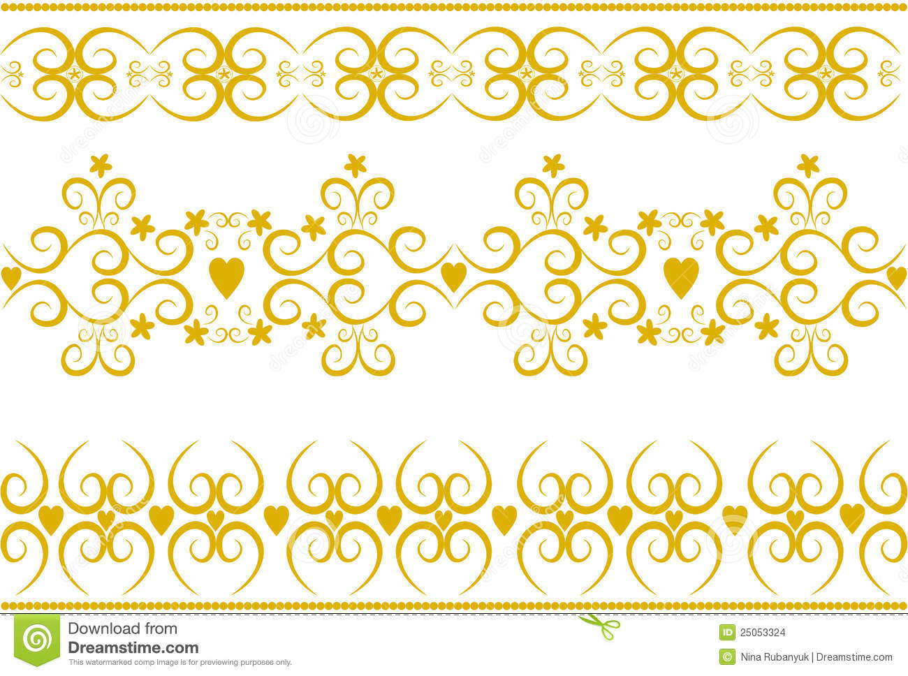 stylish gold ornaments vector  stock vector