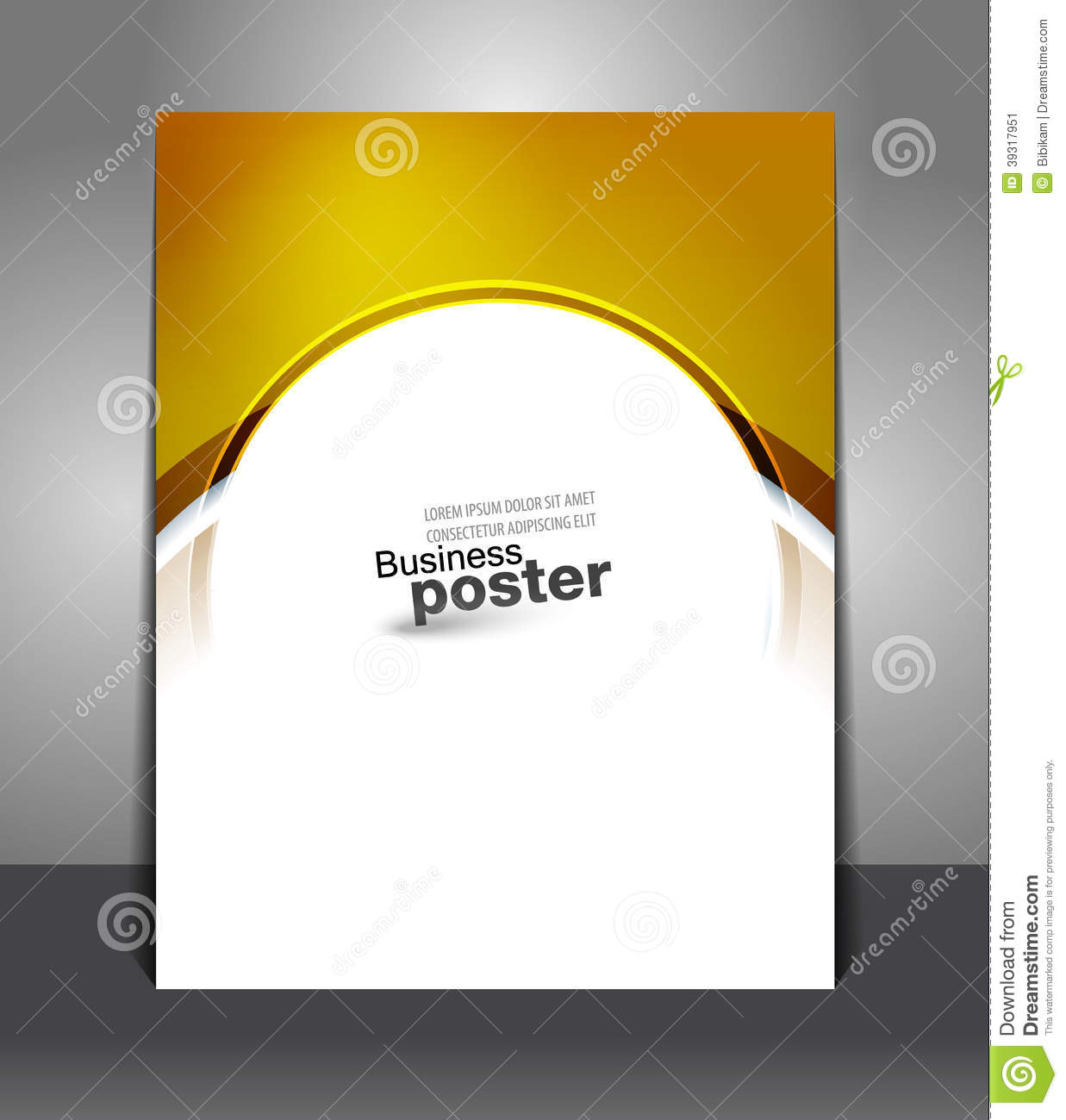 stylish gold presentation of business poster stock vector - image, Presentation templates