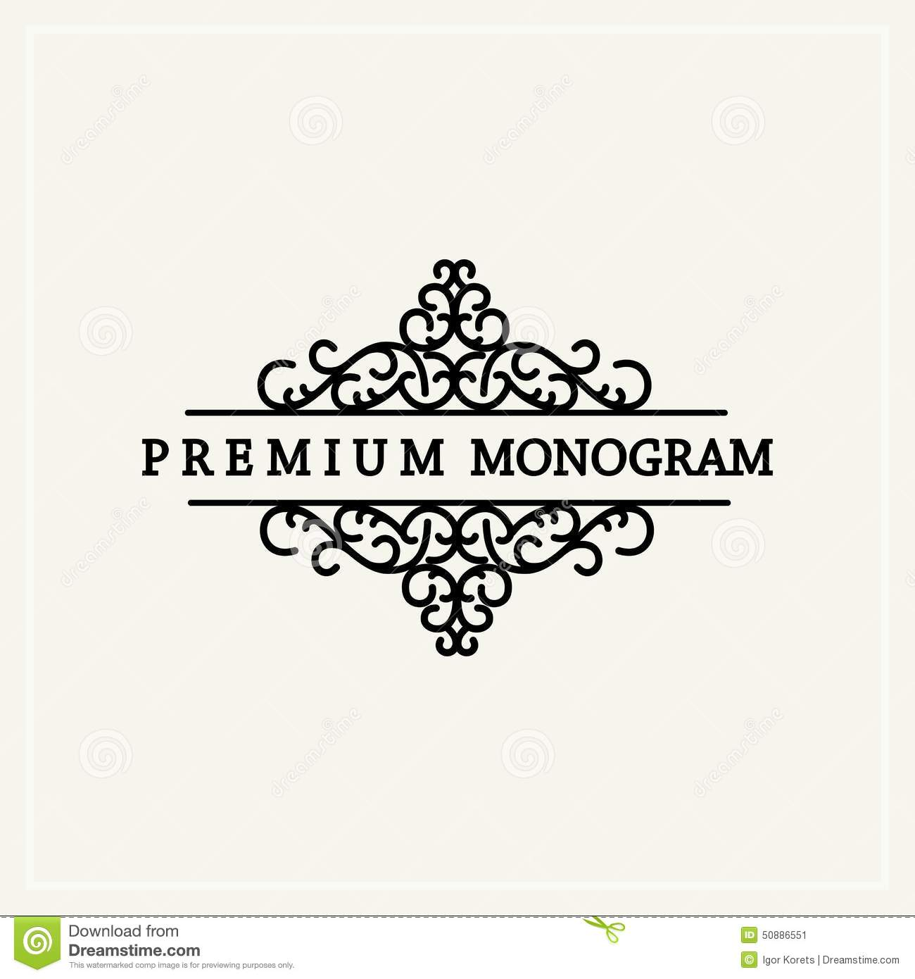stylish graceful monogram in victorian style stock vector