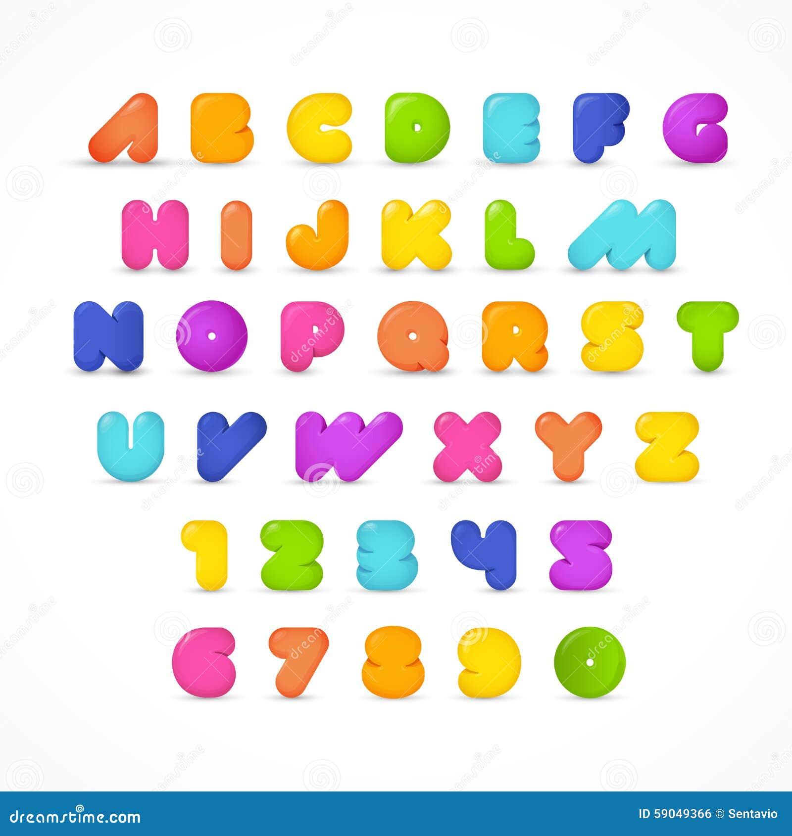Stylish Gummy ABC Full Font Royalty Free Stock Image