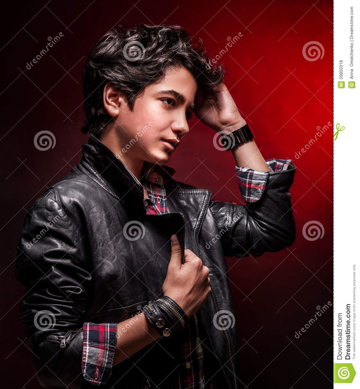 e932bdd19 Stylish guy portrait stock photo. Image of person, leather - 59850318