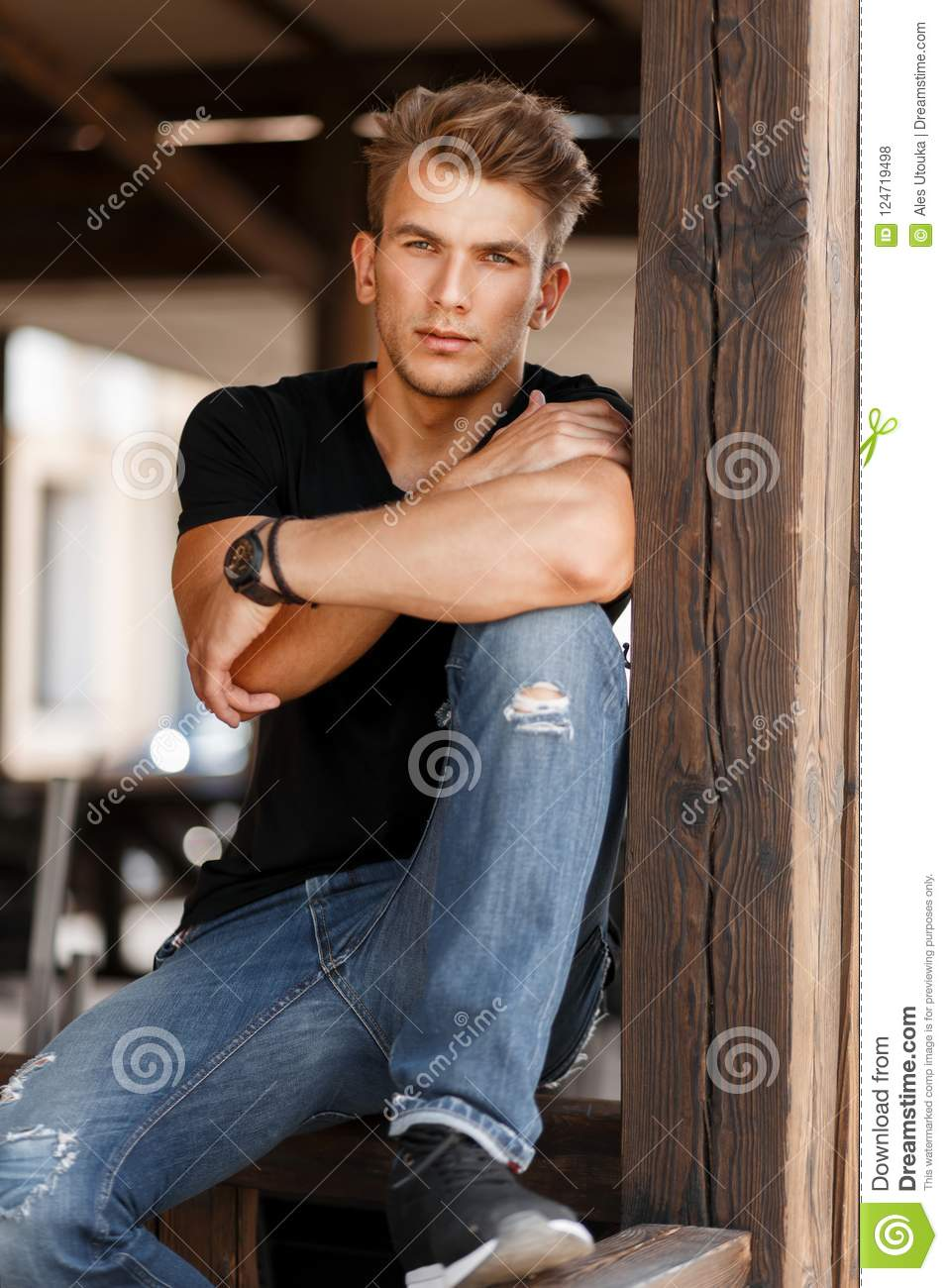 Superb Stylish Handsome Young Man With A Haircut Stock Photo Image Of Schematic Wiring Diagrams Phreekkolirunnerswayorg