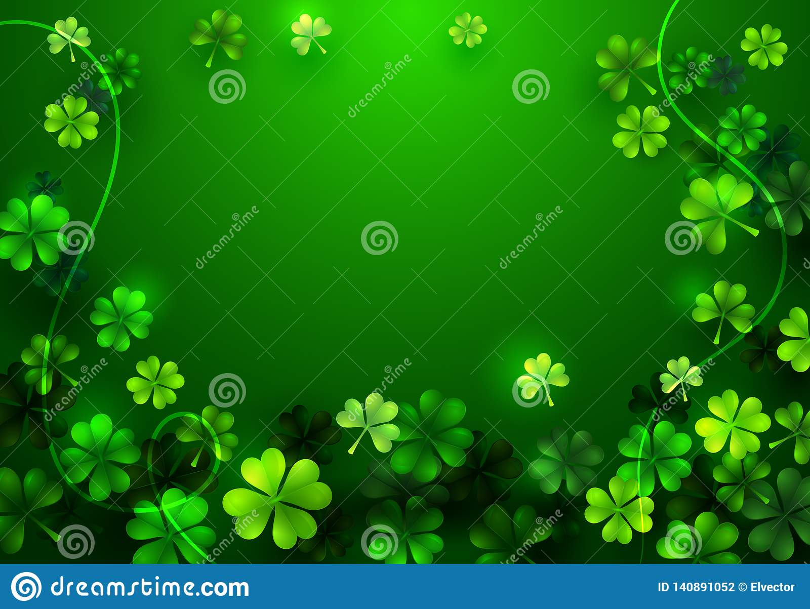 Stylish Happy Saint Patricks Day Blank Greeting Card Or