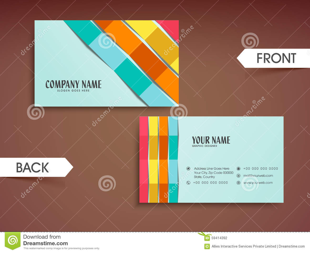 Stylish horizontal business card or visiting card stock stylish horizontal business card or visiting card stock photography colourmoves