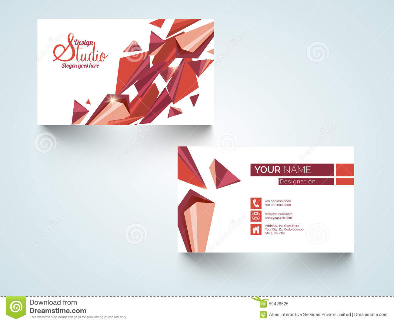 Stylish horizontal business card or visiting card stock download comp reheart Gallery