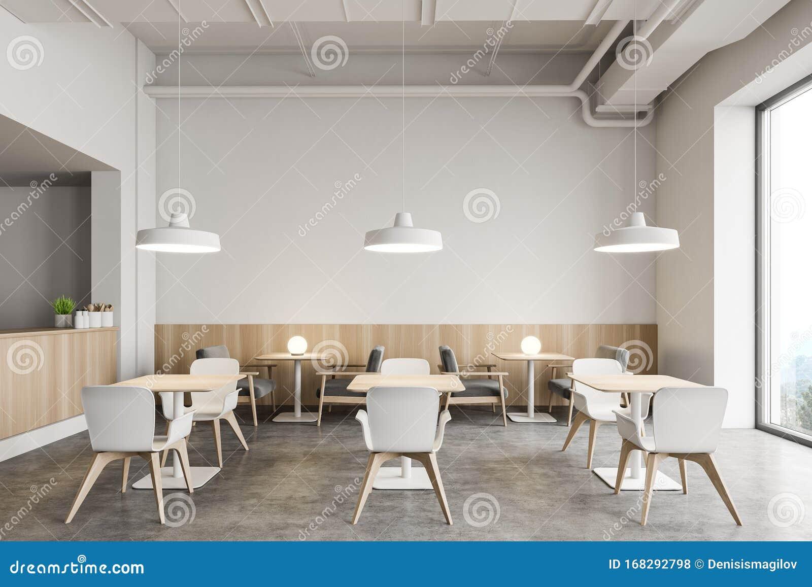 Stylish Industrial Style Restaurant Interior Stock Illustration Illustration Of Dinner Food 168292798