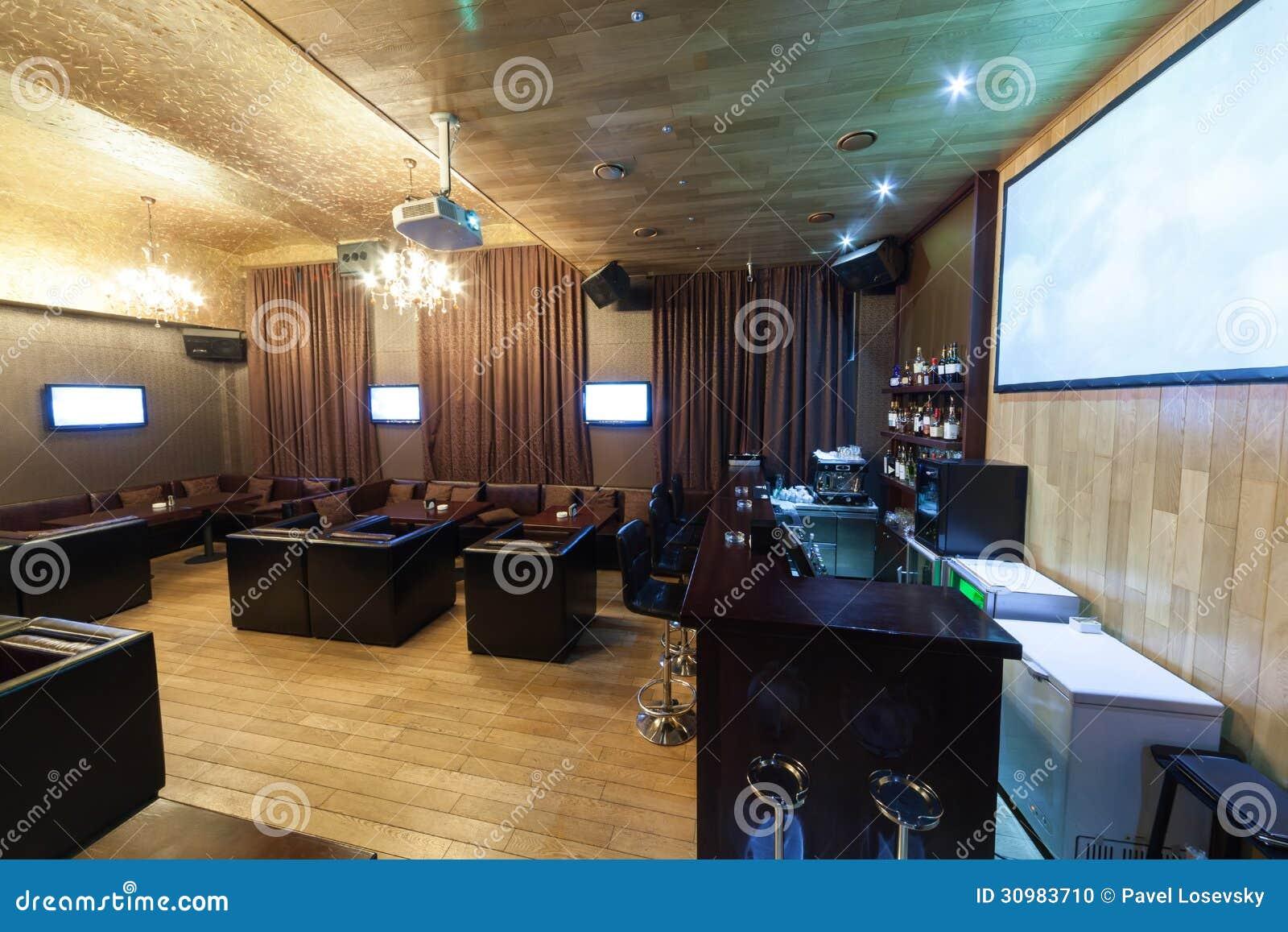 Stylish interior of karaoke bar stock photo image 30983710 for Interior leather bar