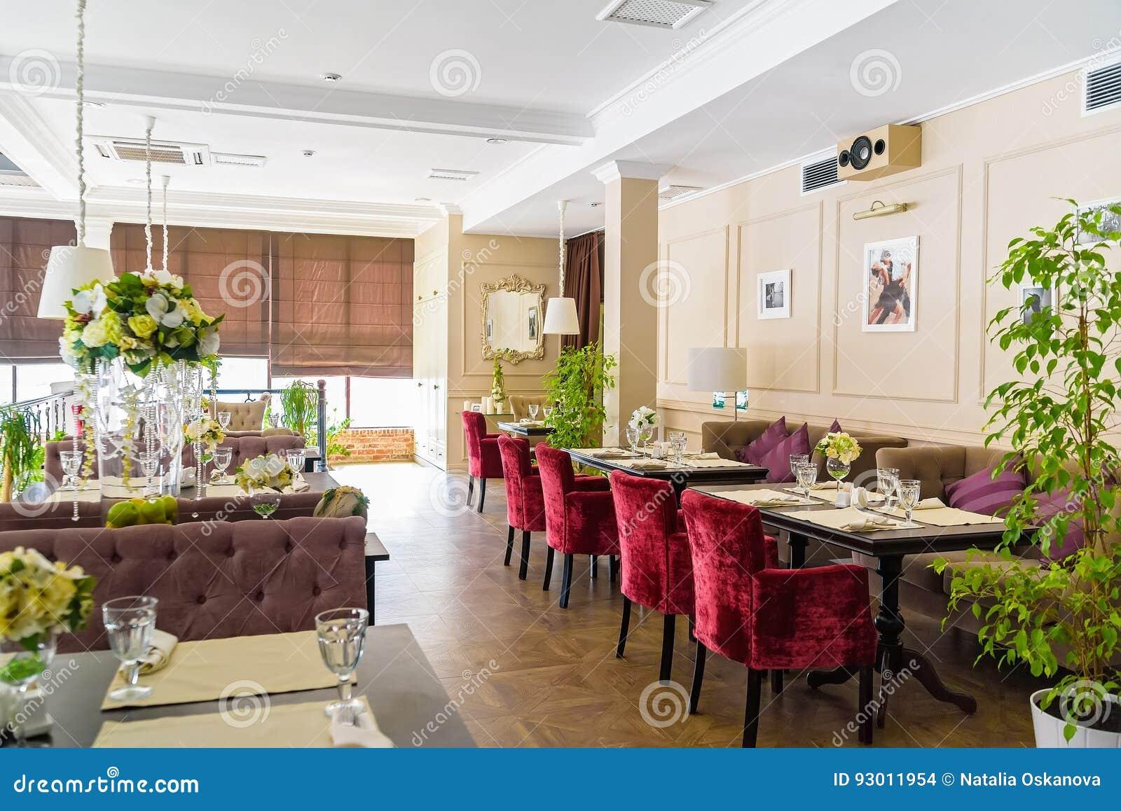 Stylish Interior Of Modern Restaurant Stock Photo - Image of ...