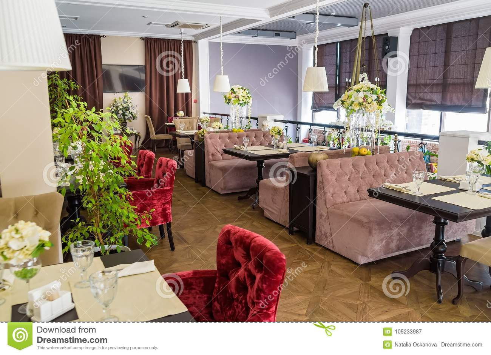 Stylish Interior Of Modern Restaurant Stock Image - Image of hotel ...