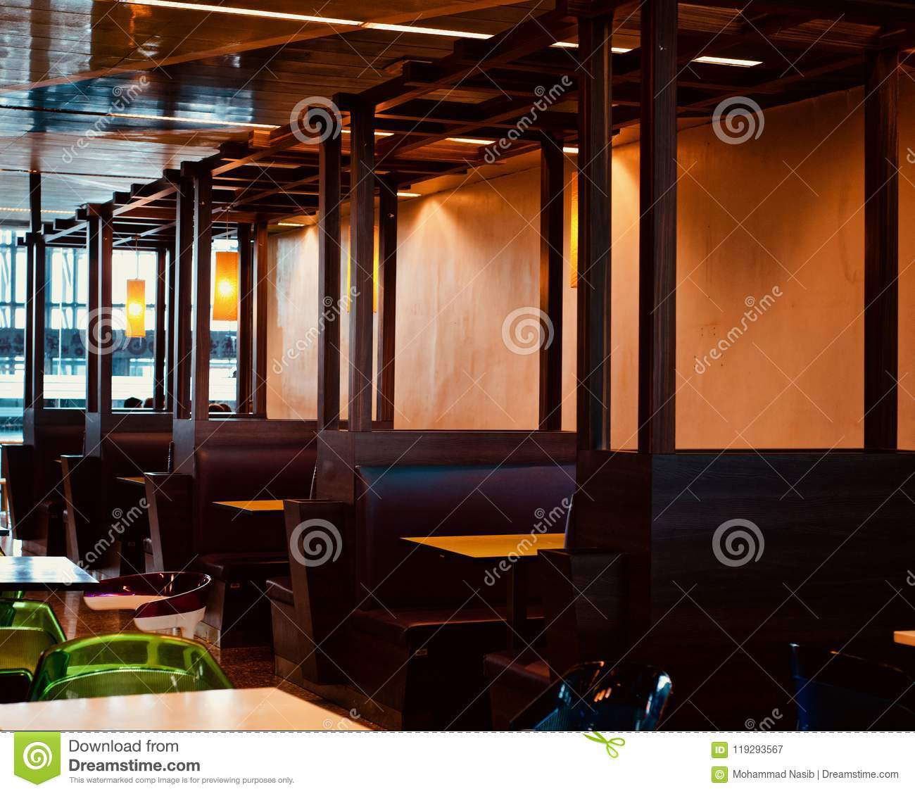 Download Beautiful Sitting Arrangements Of A Restaurant  Unique Photo Stock Image - Image of decor, chairs: 119293567