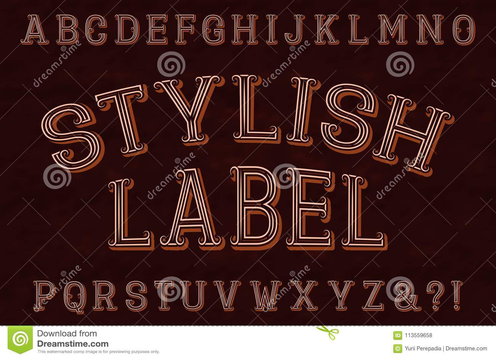 New fonts stylish in english catalog photo