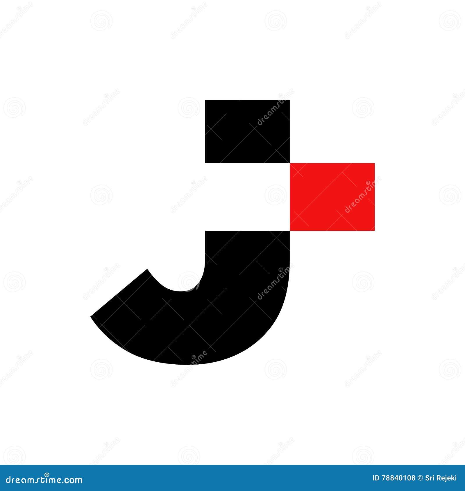 Stylish Letter J Symbol Creative Design Stock Vector Illustration
