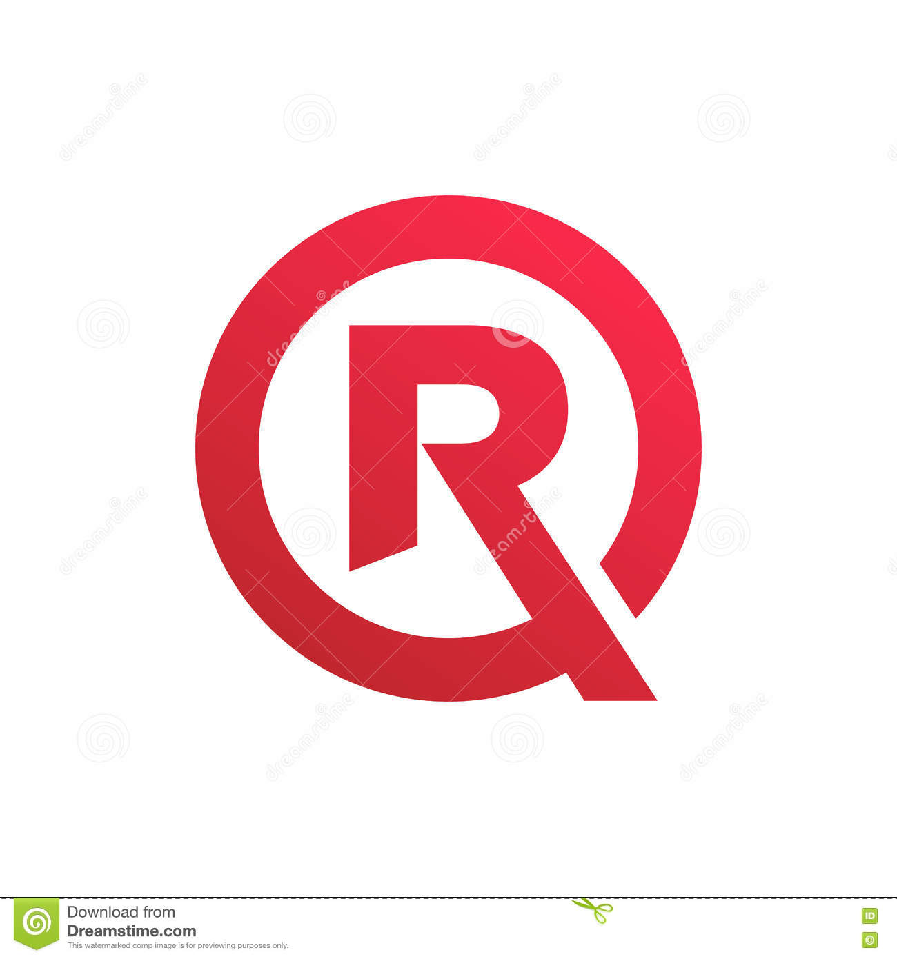 Stylish Letter R Symbol  Creative Design. Stylish Letter R Symbol  Creative Design Stock Illustration