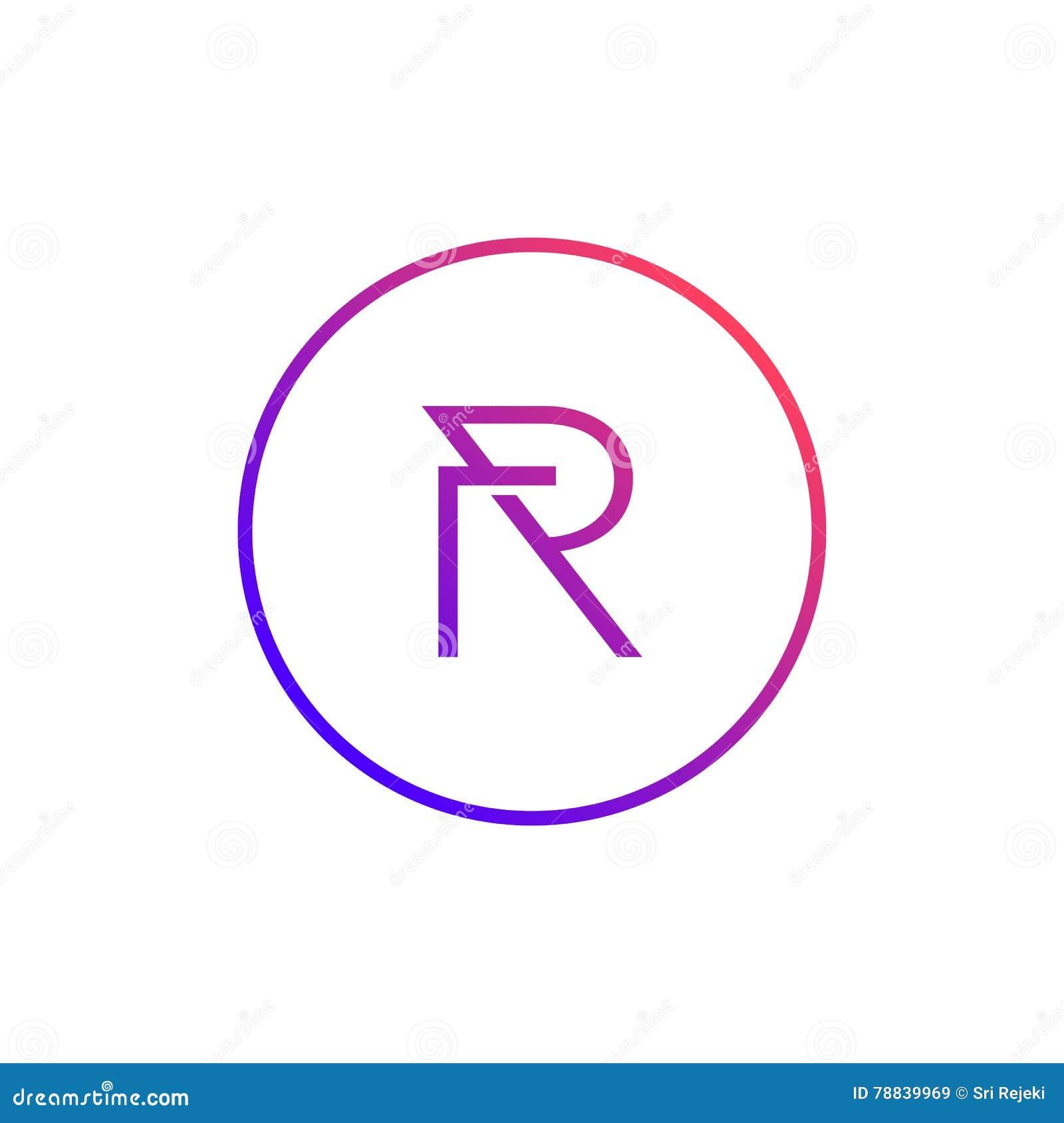 Stylish letter r images