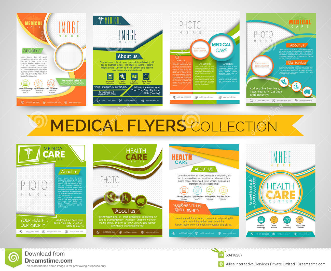 free templates for flyers and brochures - stylish medical flyers templates or brochures collection