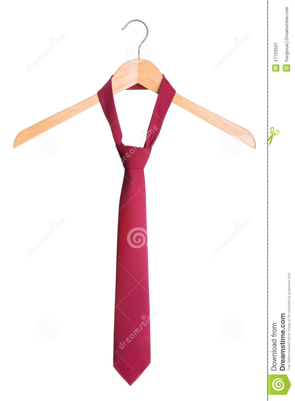 Stylish Men S Fashion Tie On A Hanger On A White Background