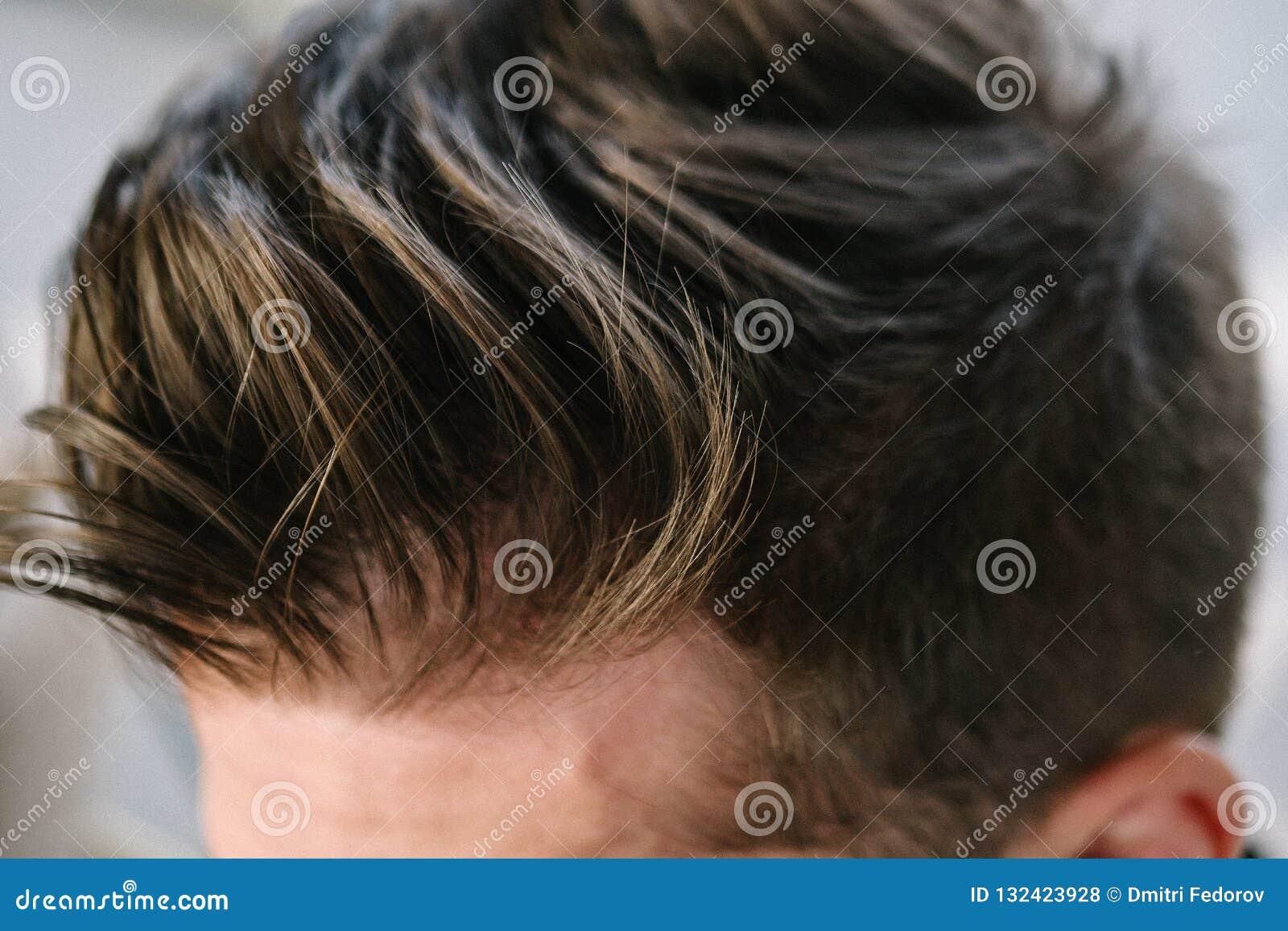 Sensational Stylish Men S Hairstyle Close Up Hair Brown Stock Photo Image Schematic Wiring Diagrams Amerangerunnerswayorg